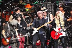 #charity Don Felder and Johnny Depp joined legendary shock rocker Alice Cooper onstage on Dec 8, 2012 as part of his eighth annual Christmas Pudding show in Phoenix, Ariz. benefiting Alice Cooper's Solid Rock non-profit organization