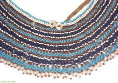 Xhosa Beaded Collar Ingqosha Old Like Mandela's South Africa - Xhosa - Beadwork Beadwork, Beading, Beaded Jewelry, Beaded Necklace, Xhosa, Beaded Collar, Loom Weaving, South Africa, Cape