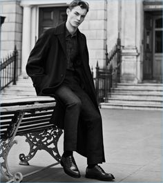 British model Kit Butler dons Church's Stance shoes for its fall-winter 2017 campaign.