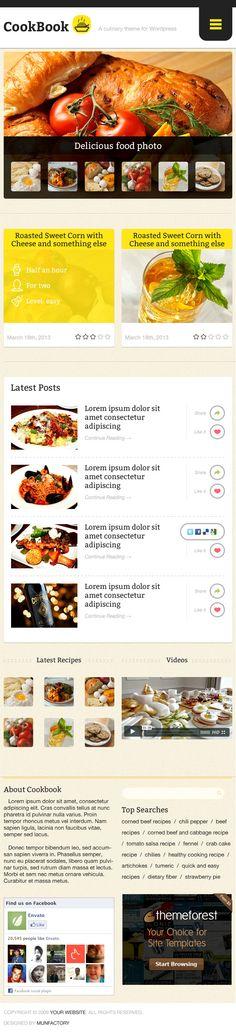 CookBook - Recipe PSD Template (+iPhone Retina)  #design #webdesign #template #web #graphic #psd #photoshop #website #cooking #retina #iphone #ipad #recipe #clean #modern #flat #flatdesign