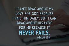 GOD'S NEVER ENDING LOVE FOR ME!!!!