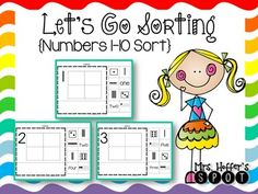 Number Sorting- A perfect activity for your kindergarten or Pre-K students. Not only do the students have a chance to work hands on to sort the number in center setting, but they also have a work page so you can check their learning. There are also pieces to make anchor charts when introducing the numbers.This is a great group of workpages.