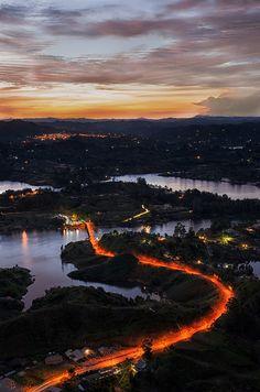 Dam of Guatape | Colombia (by Alejandro Tejada)