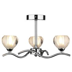Cynthia 3 Light Semi Flush Polished Chrome