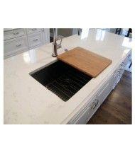 "Custom Bamboo Cutting Board 18"" x 14""   (A-CB-14) seamless sink"