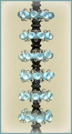 Lampwork Glass Beads, Sky Blue Beads, Handmade Beads