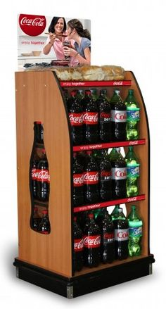 Coca-Cola Icon Bottle Wood Rack™ | Freestanding Display- PFI | Presence From Innovation, LLC | Merchandising Displays | Point of Purchase | Custom Fixtures | PFInnovation.com