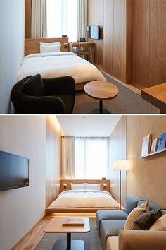 Home Remodel Split Level The new Muji Hotel Ginza showcases the best of the brand.Home Remodel Split Level The new Muji Hotel Ginza showcases the best of the brand. Design Room, Home Design, Room Interior Design, Design Design, Small Room Interior, Design Hotel, Muji Home, Hotel Motel, Japanese Interior