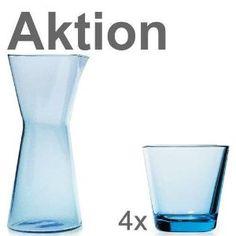 iittala Kartio Jubi Aktion 4x Gläser hellblau 22cl 1x