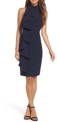 Women's Eliza J Ruffle Sheath Dress #affiliatelink