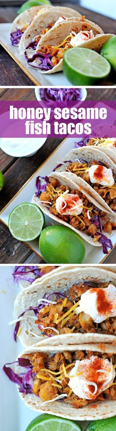 Honey Sesame Fish Tacos -- these are so good, so easy (under 20 min), and so good for you! #recipe #fitfluential