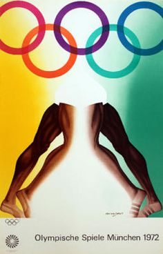 Poster Art Olympic Games Munich 1972 by Allen Jones Wall Art 1972 Olympics, Summer Olympics, Munich, History Of Olympics, Fifa, Allen Jones, Olympic Logo, Olympic Committee, Commercial Printing