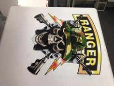 Call 781-848-1235 for your custom printing or embroidery needs of apparel, uniforms, banners, decals, coozies, mousepads, promotional items and a total of a million products to customize! AmericanReflective@gmail.com #Decals #posters #banners #shirts #tshirts #camo #ranger #skull #guns #bolts #custom