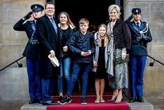 Prince Konstantijn and Princess Laurentien with their children going to the Dutch Princess Beatrix's 80th Birthday Reception/ Jan. 31, 2018
