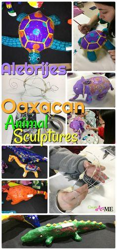 Oaxacan Animal Sculptures – Plaster Wrap or Paper Mache #oaxaca #animalsculpture #alebrijes #msart
