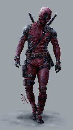 #Deadpool #Fan #Art. (Deadpool) By: Larry Neal. (THE * 5 * STAR * AWARD * OF * ÅWESOMENESS!!!™)