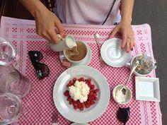 Wild strawberries and cream