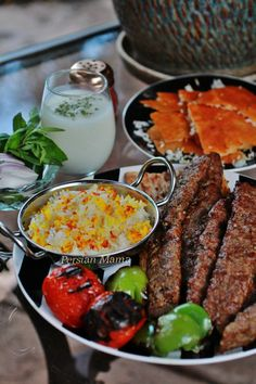 Kabob Koobideh - Grilled Minced Meat Kabobs made with a combination ground lamb and beef mixed with onion and spices.