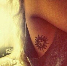 Image result for sun and moon tattoo