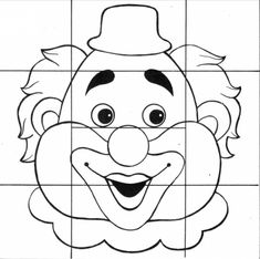 Puzzle MS Le Clown, Circus Clown, Circus Theme, Circus Party, Color Activities, Math Activities, Summer Preschool Themes, Clown Party, Activity Sheets For Kids