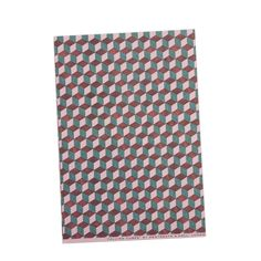 Falling Cubes Wrapping Paper - Pink, Red, Blue by Pentreath & Hall