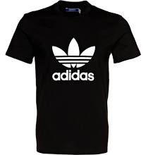 Camiseta negra trebol adidas classic.