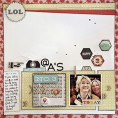 By Krissy Clark McKee using a sketch found at My Scraps and More Sketches and Lily Bee papers