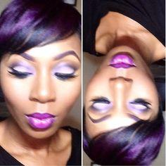 Cute purple makeup & hair......#PurpleHair
