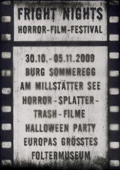 Poster for a horror film festival.