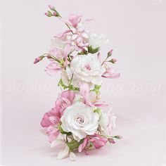 Gumpaste Alstroemeria Lily with Full Blown Roses