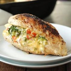 Broccoli Cheese Stuffed Chicken Breast My husband and kids LOVED this super easy dinner recipe! Broccoli Cheese Stuffed Chicken Breast is going in my normal menu rotation! Tasty Videos, Food Videos, Recipie Videos, Cooking Videos, Cooking Recipes, Healthy Recipes, Keto Recipes, Steak Recipes, Simple Salad Recipes