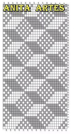 Trendy Ideas For Crochet Patterns Tapestry Knitting Charts Tapestry Crochet Patterns, Bead Loom Patterns, Weaving Patterns, Cross Stitch Patterns, Knitting Charts, Knitting Stitches, Knitting Patterns, Fillet Crochet, Crochet Chart