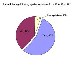 This is what people think about raising the age requirement for driving.