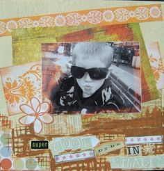 Cool dude in shades scrapbook