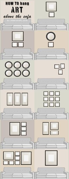 Wnętrza: wieszanie obrazków nad sofą