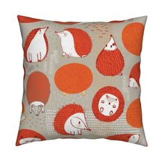 Catalan Throw Pillow featuring Quill Balls by Friztin by friztin | Roostery Home Decor