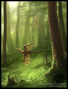 beautiful setting for dragons