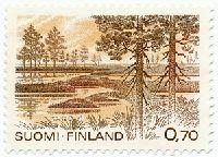 Kauhanevan kansallispuisto. Postimerkki 1981