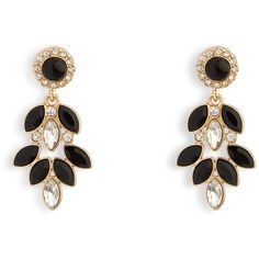 Vera Bradley Holiday Glitz Chandelier Earrings in Gold Tone with Black ($19) ❤ liked on Polyvore featuring jewelry, earrings, accessories, gold tone with black, gold tone jewelry, gold colored earrings, evening jewelry, cocktail jewelry and holiday earrings