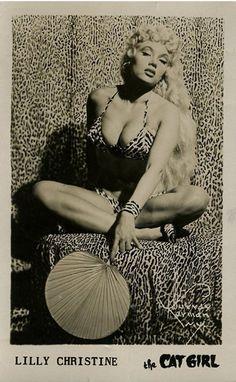 "hollyhocksandtulips:    Lilly Christine ""The Cat Girl"".."