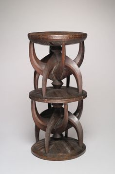 Igbo Region of Awka, Anambra State, Nigeria, Title Stool Metal Furniture, Cool Furniture, Furniture Design, African Furniture, African Sculptures, Mid Century Chair, 19th Century, African Art, African Masks