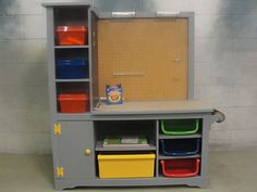 Toddler Work Bench and Art Station Repurposed by spotonfinds, $300.00