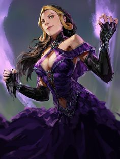 Liliana by Tyler Law : ImaginaryWitches Female Character Concept, Character Art, Character Portraits, Fantasy Women, Fantasy Girl, Fantasy Images, Fantasy Characters, Female Characters, Fairy Wallpaper