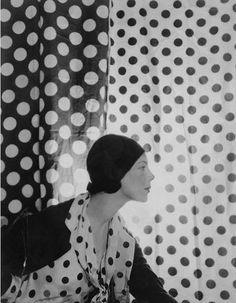 Cecil Beaton - polka dot, black and white, vintage, photo