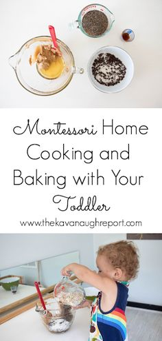 Cooking and Baking with Your Toddler A few thoughts on cooking and baking with your Montessori toddler. And a look at a toddler friendly recipe in action. The post Cooking and Baking with Your Toddler appeared first on Toddlers Ideas. Montessori Toddler, Montessori Activities, Infant Activities, Montessori Bedroom, Montessori Homeschool, Indoor Activities, Toddler Friendly Meals, Toddler Meals, Baking With Toddlers