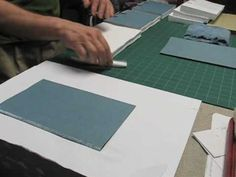 outer paper tutorial  bookbinding  Tipping on Endpapers