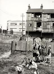 Children playing in Frog's Hollow, the Surry Hills slum.