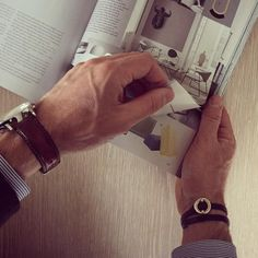 Our leather bracelet is also very suitable for men  - Here the brown leather bracelet with silverlock  #sterlingsilver #newnordic #scandinavia #danishdesign #denmark #copenhagen #menswear #jewellery