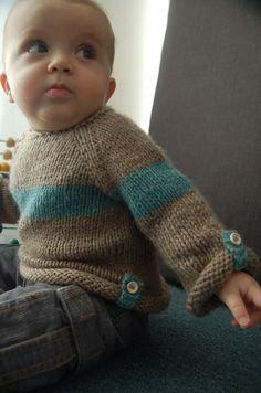 Baltic Baby Sweater PDF knitting pattern by frogginette on Etsy