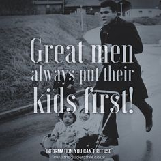 Great Men #TheGuidefather #GreatMen #MuhammadAli #Ali #Quote #Kids #First #Parenting #Father #Dad #Babies #Information #Monday #Family #Love